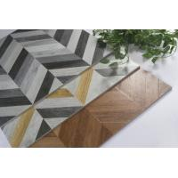 3D Glazed Wood Grain Surface Bathroom Floor Tiles Water Resistant Manufactures