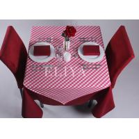 90 * 90 cm Squar Polyester Hotel Table Cloth , Linen Table Cloths for home or banquet or wedding Manufactures
