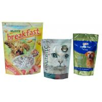 Custom Ziplock Pet Food Bag Quad Seal Pouch Anti Corrosion
