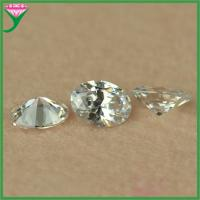 China Wholesale price 5x7mm synthetic white oval loose cubic zirconia gems stones on sale