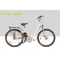 China Lady City Electric Bicycles Cruising Bike 700C Electric Front Wheel Gear Motor roller brake on sale