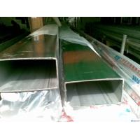 China AISI 201 / 304 / 316 Stainless Steel Welded Rectangular Tube for Fluid , Gas Transport on sale