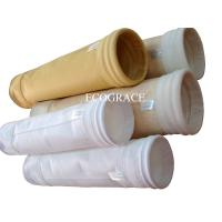 Cement Polyester Needle Felt Filter Bags For Dust Collector Gas Filtration Manufactures