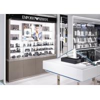Watch Showroom Display Cases White Painting Color With LED Spot Light Manufactures