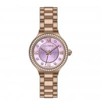 China Full Stainless Steel Rose Gold Watch For Ladies , Quartz Wrist Watches on sale