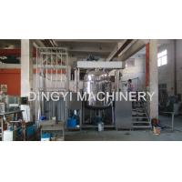 High Viscosity Eyes Cream Vacuum Electric Emulsifier 1600L With Bottom Homogenizer Manufactures