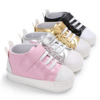 China Hot sale Rubber sole Casual canvas 0-2 years baby First walker sneaker for baby boy on sale