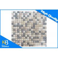 Mixed Colour Travertine Mosaic Tile Square Shape Home Decoration Wall / Flooring Tiles Manufactures
