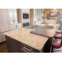 Combined U Shape Marble Stone Countertops / Honed Granite Worktop Manufactures
