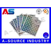 China Transparent Adhesive Holographic Security Stickers  3d Hologram Printed on sale