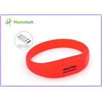 Red Silicone Bracelet Usb Flash Drive Wristband Flash Memory Stick Manufactures