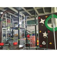 Quality Physical Activity Kids Play Equipment Outdoor Abrasion Resistant Rope Bridge And Climbing Wall for sale