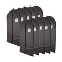 Classic Black Garment Bag With Dust And Moisture Protection Function Manufactures