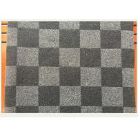 Coat Smooth Black And White Buffalo Check Fabric 45% Wool 750g Per Meter Manufactures