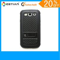Red Brand New PC / TPU Samsung Galaxy s3 Phone Cases / Knuckle Case With Official Size Manufactures