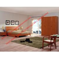 Red cherry wood made grand Germany quality style furniture by Bent plate headboard bed and large armoire cabinet Manufactures