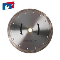 Turbo Diamond Concrete Cutter Blade 65Mn / 30Crmo For Cutting Marble Granite Manufactures