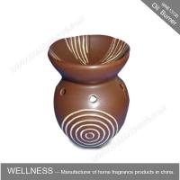 Different Classic Shaped Ceramic Aroma Oil Burner With Spiral Pattern Manufactures