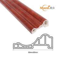 wood grain pvc laminate flooring skirting Manufactures