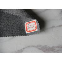 Light Grey Flannel Wool Fabric For Sleeping Garments / Work Gloves / Blazers Manufactures