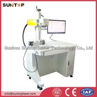 20W fiber laser rotating marking machine for pipe and round tube marking Manufactures