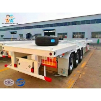 China 12 Meters Heavy Loading Skeletal 30T Container Semi Trailer on sale