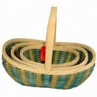 Quality Spring Series Wood Baskets for Fruit and Storage Use for sale