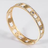 China Stainless Steel Custom Charm Bracelets , Gold Plated Bangle Bracelets For Women Jewelry on sale