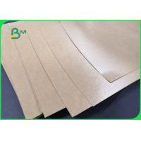 Buy cheap 300gsm +15g Poly Coated Brown Kraft Paper For Food Wrapping Water Resistant from wholesalers