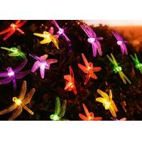 China 6m 30led Little Dragonfly Solar Panel Led String Lights Fairy Light on sale