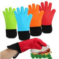 High Temp Long Side Opening Silicone Hand Gloves Sleeve Design Easy Cleaning Manufactures