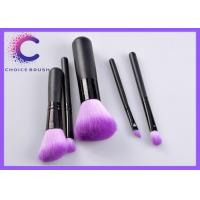 Promotion cosmetic private label purple makeup brush set for Beauty Manufactures