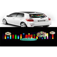 Car Music Rhythm Lamp , Advertising Poster EL Car Sticker With Low Power Consumption Manufactures