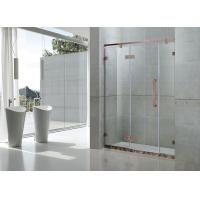 Tempered Glass Frameless Single Shower Doors Red Bronze Hinge Swing Stainless Steel Manufactures