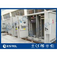 China Telecommunication Rack Outdoor Telecom Cabinet Two Bay Galvanized Steel Material on sale