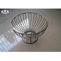 Welded Kitchen Wire Mesh Fruit Bowl Customized Shape FDA Certificated Manufactures