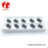 High Speed Cutting CNC Milling Inserts LNMU0303 With Yellow Pvd Coating Manufactures