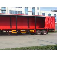 China Flame Retardant Soft Trailer Tarpaulin Side Curtain Rain Proof Easy To Open on sale