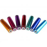 China Round Metal 2600mah Perfume Cell Phone Power Bank , Red / Pink / Green / Silver / Black on sale
