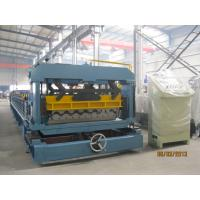 PLC Converter Roof Tile Roll Forming Machine For Factory Hotel Roof Manufactures