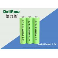 China NIMH Rechargeable Batteries Aa 1.2 V 600mah For LED / Electric Bike on sale