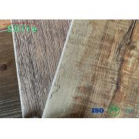 SPC Rigid Core Flooring Wood Grain Pattern With 0.3MM Wear Resistant Manufactures