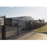 Schools Security Metal Fence Panels Square Pipe Materials Black Powder Color Manufactures