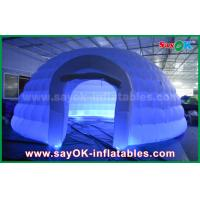 China White Round Inflatable Dome Tent Commercial Event Tent For Party / Trade Show on sale