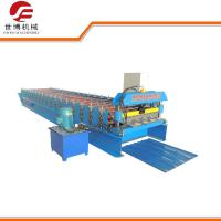 China Hydraulic Aluminium High Rib Trapezoidal Sheet Roll Forming Machine for Construction on sale