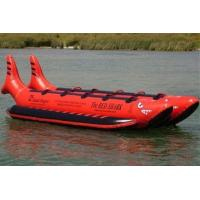 China Commercial Island Hopper Red Shark Water Banana Boat 10 Passenger Side by Side for Sales on sale
