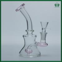 Toro Mini Jet Perc Glass Water Bubblers 14.4mm Female Joint With Pink Color Manufactures