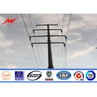 China Bitumen Galvanized Steel Pole For Electrical Power Transmission Line on sale