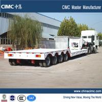 100 tons gooseneck detachable front loading lowboy trailer Manufactures