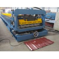 China Lower cost metal tile roll forming machine for sale. on sale